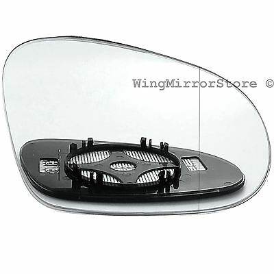 Right Driver side replacement heated wing mirror glass for VW Golf mk5 03-08