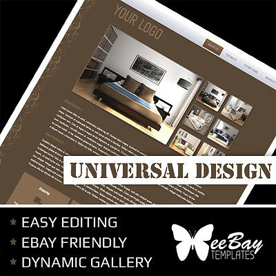 Professional eBay Auction Listing Template 9a Universal New Design Custom HTML