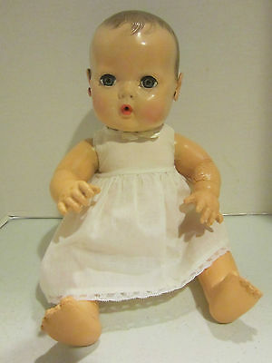 """Vintage hard plastic & rubber Effanbee 15"""" Dy DEE Baby very nice body & face"""