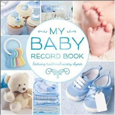 My Baby Record Book Blue by Hinkler (English) Hardcover Book Free Shipping!