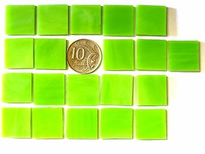 25 Lime Green MOSAIC tiles 2cm x 2cm Scrapbooking Art Craft