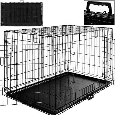Cage Boite Transport Chien Et Animaux - Fermable & Pliable -Taille Xl & Poignee