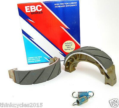 Motorcycle EBC Brake Shoes Water Grooved H303G Fit's Sym Jet 50, Peugeot & More