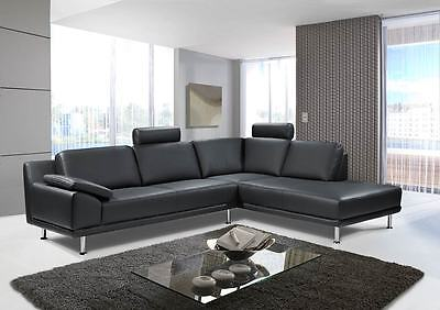 ecksofa garnitur eckcouch echt leder sofa couch sitzecke xxl l form polsterecke eur. Black Bedroom Furniture Sets. Home Design Ideas