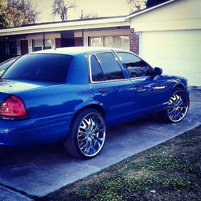 24'' rims with the tires, fair condition