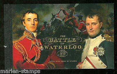Great Britain 2015 Battle Of Waterloo  Cpl Prestige Booklet   Mint Never Hinged