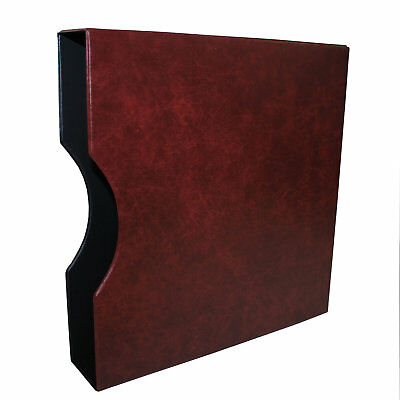 "Seven Seas 32mm Slipcase for Seven Seas ""D"" Ring Binder - Burgundy"