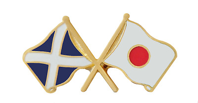 Japan Flag & Scotland Flag Friendship Courtesy Pin Badge - T362