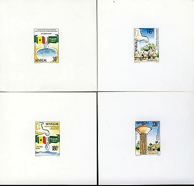 SENEGAL 1991 Water Source of Life Set PROOFS or ESSAYS on White Card