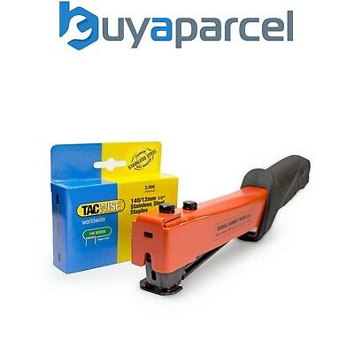 Tacwise A54 Roofers Hammer Staple Tacker Heavy Duty 1173 & 2000 x 12mm Staples