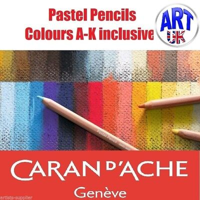 Caran D'Ache Artists SOFT PASTEL PENCILS colours A-K draw/sketching design