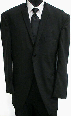 Black Ecko One Button Tuxedo Jacket with Matching Pants Wedding Prom Formal 42R