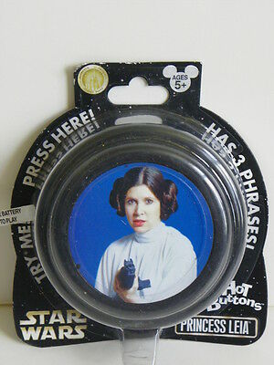 Star Wars Princess Leia- Hot Buttons Has 3 Phrases