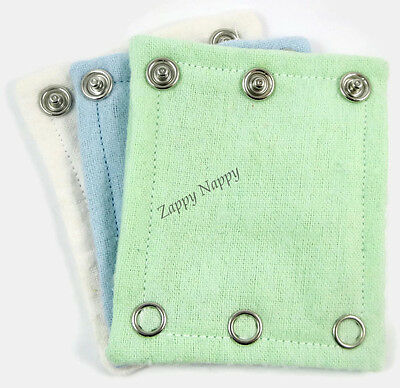 New Onesie/bodysuit extenders pack of 6. Boy colours. MCN. Cloth Nappy. Nappies.