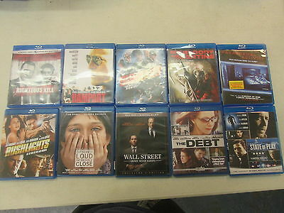 10 Blu-Ray Movie Lot - All Blu-Rays are in Good or Better Condition