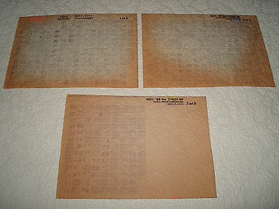 Toyota Camry Sv1#, Cv1# Parts Microfiche Full Set Of 3 - Dated November 1985