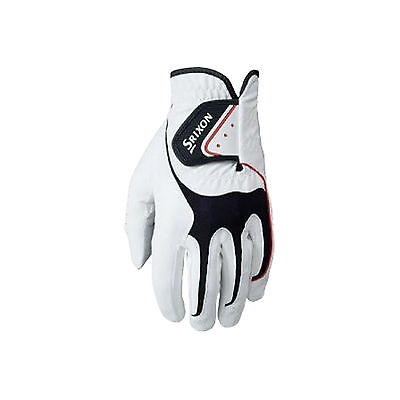 Srixon Mens All Weather Left Hand Golf Glove -New White Leather For Right Handed