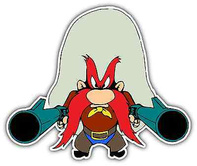 Yosemite Sam Gun Kids Cartoon Car Bumper Window Locker