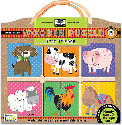 Green Start Farm Friends Wooden Puzzle By Innovative Kids