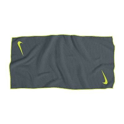 Nike Tour MicroFiber Towel - Dark Grey/Volt