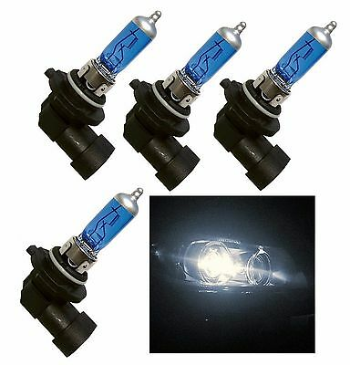 Halogen H12 9055 55W 5000K Four Bulb Fog Light Replacement Quality Plug Play Fit