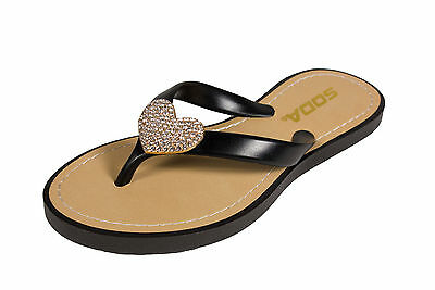 798a650df03349 DIJON-2! SODA KID S Girl Diamond Heart Jelly Flip-Flop Thong Sandal ...
