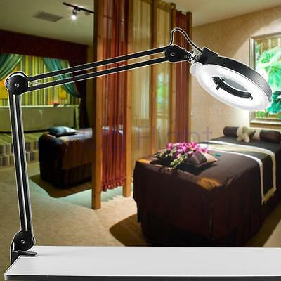 Desk Magnifying / Magnifier Lamp Light 5 Diopter Beauty Salon clamp BLACK Spa CE