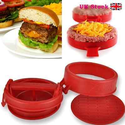 UK STUFZ Stuffed Burger Press Hamburger Grill BBQ Patty Maker Juicy As Seen OnTV
