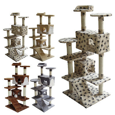FoxHunter Kitten Cat Tree Scratching Post Sisal Toy Activity Centre Bed CAT005