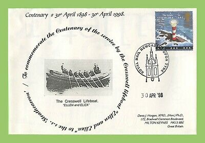 GB 1998 Centenary of Cresswell Lifeboat Service Commemorative Cover Newcastle