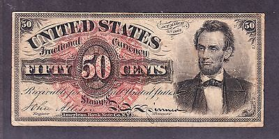 """US 50c Fractional Currency """"Lincoln"""" 4th Issue FR 1374 VF"""