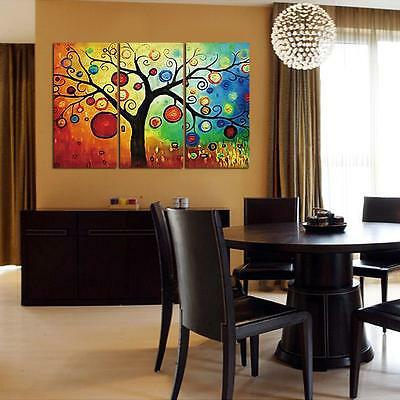 Large Colorful Tree Unframed HD Canvas Print Wall Art Picture Split Poster