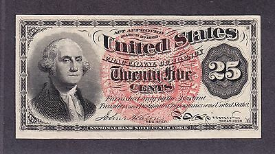US 25c Fractional Currency 4th Issue FR 1302 Gem CU