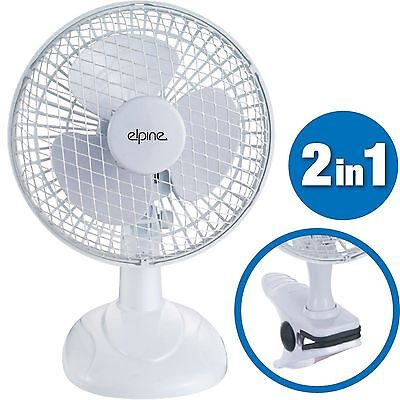 """2 in 1 6"""" Inch Clip On Silent Portable Home Office Desk Cooling Cool Fan New"""