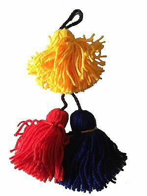Dhol Phumans/ Tassels Pom Pom Professional 3 in a piece with set of 9