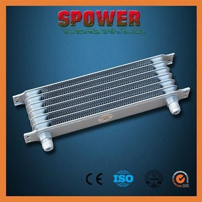 Universal Engine Transmission Oil Cooler 7 Row AN10 Silver Trust Style