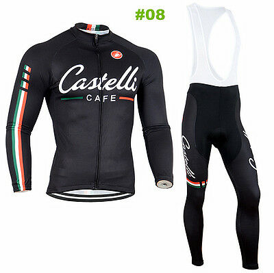 New HOT Style Cycling Jersey Trouser Bib Long Pants Long Set Bicycle Wear Suit