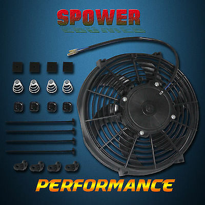 "12"" Inch 120W Universal Radiator Cooling Thermo Fan + Mounting Kit Bow Blade"