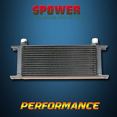 Universal 15 Row AN10 Engine Transmission Aluminum Oil Cooler Mocal Style Black