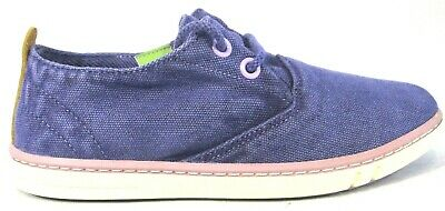 Girls Junior Kids Childrens Canvas TIMBERLAND HOOKSET Plimsolls Trainers Shoes
