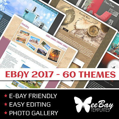 Professional Full eBay Auction Listing Template Custom HTML New THEMES 1-60