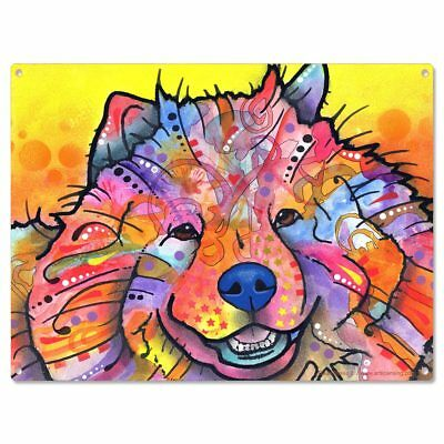 Chow Chow Dog Dean Russo Metal Sign Benzi Pop Art Pet Decor 16 x 12
