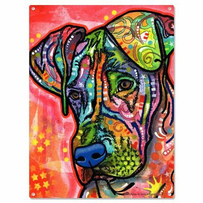 Great Dane Wrinkly Dog Dean Russo Metal Sign Zen Pop Art Pet Decor 12 x 16