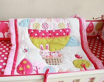 New High Quality Baby  Boy Crib/Cot Embroidered Blanket Quilt Comforter Pink