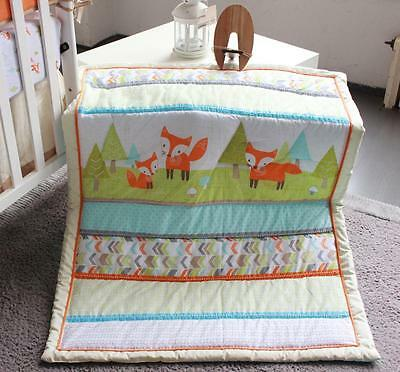 New High Quality Baby Girl/Boy Crib Cot Embroidered Blanket Quilt Comforter