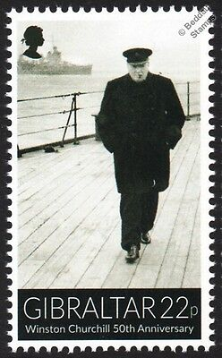 Sir Winston Churchill on HMS PRINCE OF WALES (53) Battleship WWII Warship Stamp
