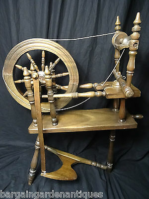 Antique Traditional Spinning Jenny Wheel Ash Wood Scottish Handmade Collectors