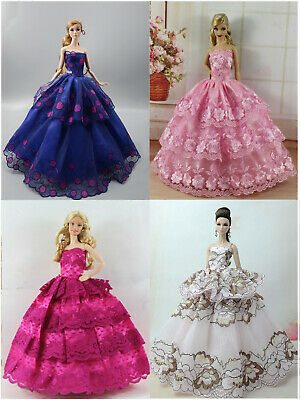Handmade 4 PCS Fashion Princess Pary Dress/Clothes/Gown For 11.5in.Doll S222