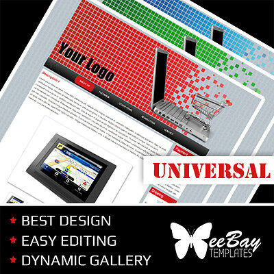 Professional eBay Auction Listing Templates Universal Colors Custom HTML Design