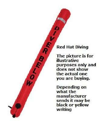 Red Hat Diving smb-1,  hose or oral inflation. 130cm x 14cm. Carrying pouch.